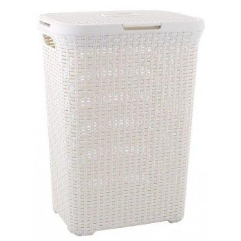 Koš na prádlo STYLE RATTAN 60 l krémový CURVER R30459