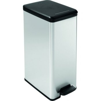 Odpadkový koš SLIM BIN 40 l - stříbrný CURVER R31331