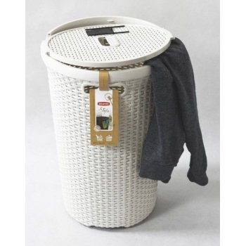 Kulatý koš na prádlo 48 L krémová CURVER R30449