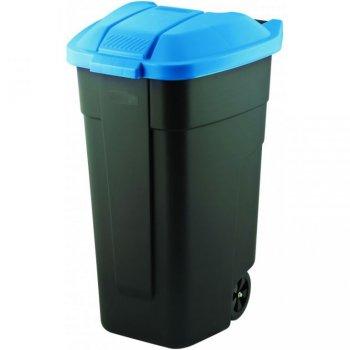 POPELNICE COLOR 110 l - černá/modrá CURVER R31501