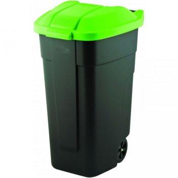 POPELNICE COLOR 110 l - černá/zelená CURVER R31503