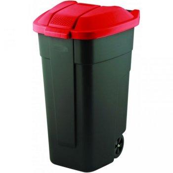 POPELNICE COLOR 110 l - černá/červená CURVER R31502