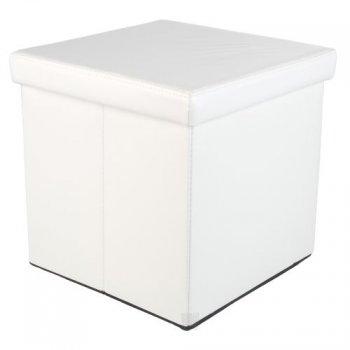 Taburet s úložným prostorem, bílý M02494