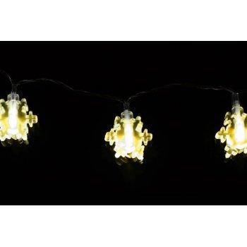 Vánoční osvětlení - zimní vločka - teple bílé