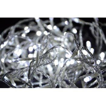 Vánoční LED osvětlení 200 LED - bílé 18 m D00803