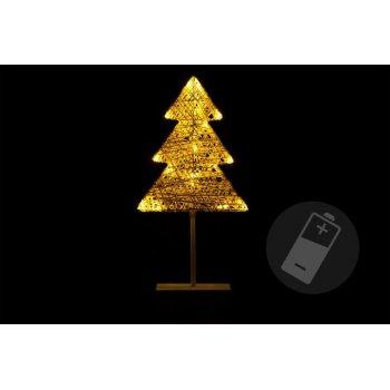 Vánoční dekorace - Svítící stromek ratanového vzhledu - 40 cm, 20 LED D28427