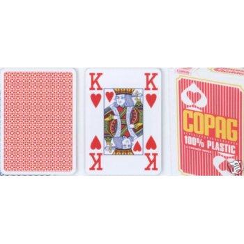Poker karty Copag Jumbo 4 rohy Red