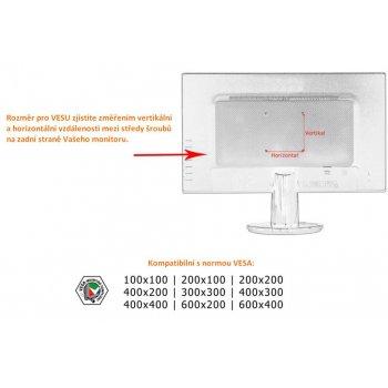 Držák na TV a LCD monitory do 66