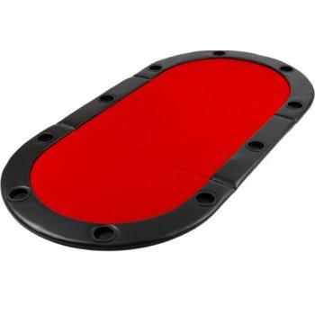 Poker podložka skládací červená