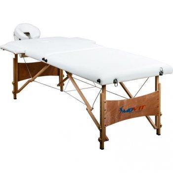 Přenosné masážní lehátko DELUXE MOVIT bílé 185 x 80 cm M01295