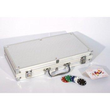 Poker set 300 ks žetonů s příslušenstvím D00498