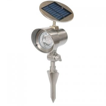 Solární zahradní lampa Garth reflektor 15 x 11,5 x 22 cm M01521