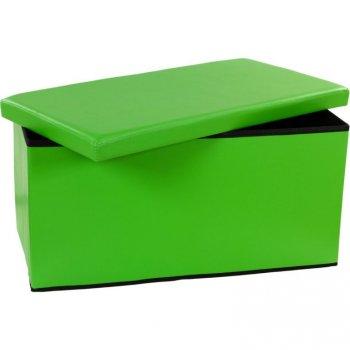 Skládací lavice s úložným prostorem - zelená M06480