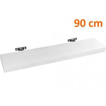 Nástěnná police STILISTA SALIENTO - bílá 90 cm