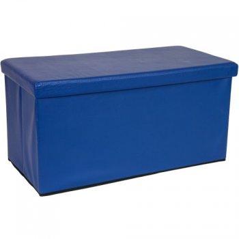 Skládací lavice s úložným prostorem - modrá