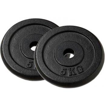Sada 2 závaží na činky 5 kg černé