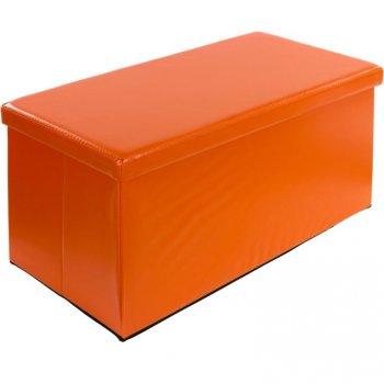 Skládací lavice s úložným prostorem - oranžová