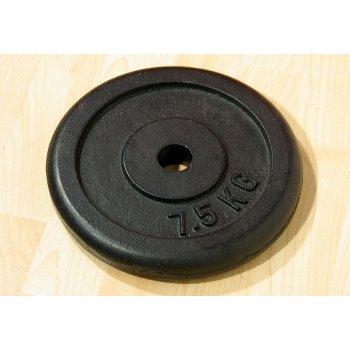 Závaží na činky 7,5 kg černé litina D00009
