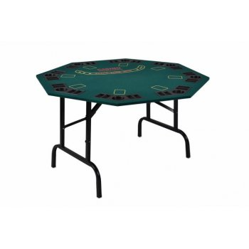 Skládací pokerový stůl pro 8 osob s držáky na nápoje D05968