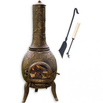 TERA Venkovní zahradní krb litina 120 cm - bronz M01381