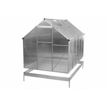 ALU skleník 250 x 190 x 195 cm - spodní rám a automatický otvírač oken D31021