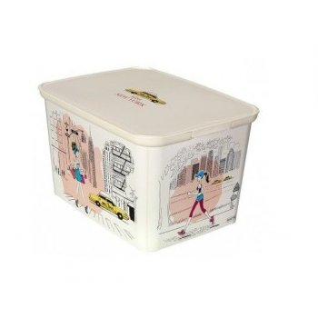 Úložný box DECO - L - Miss New York CURVER R32334