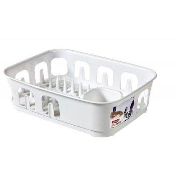 Odkapávač nádobí ESSENTIALS obdélník - bílý CURVER