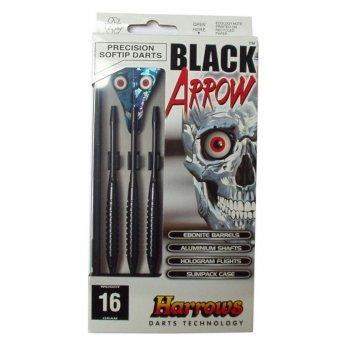 Šipky s plastovým hrotem HARROWS SOFT BLACK ARROW 18g
