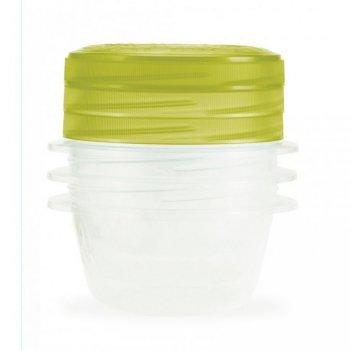 Set 3 plastových dóz TAKE AWAY TWIST 0,5l - zelený CURVER R32865