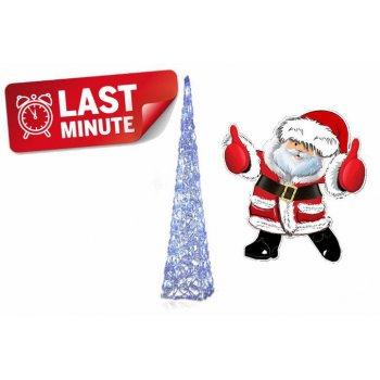 Vánoční dekorace - Akrylový kužel - 90 cm, studeně bílé + trafo D06002
