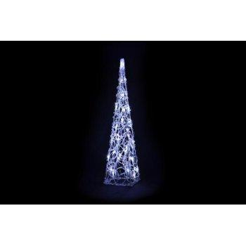 Vánoční dekorace - Akrylový kužel - 60 cm, studeně bílé + trafo
