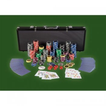 Pokerový set, 500 žetonů Ultimate black