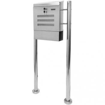 Poštovní schránka nerez 120 cm M01264