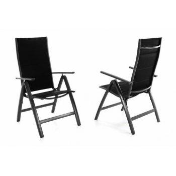 Sada dvou zahradních hliníkových židlí DELUXE - černá D40947