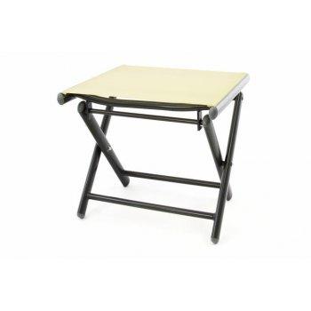 Hliníková zahradní stolička - skládací krémová D40806