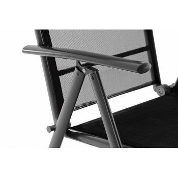 Sada dvou zahradní polohovatelných židlí - černá