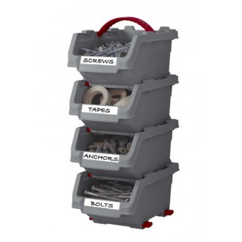 Sada úložných boxů KETER CLICK BINS set - M - 4 organizéry KETER R41076