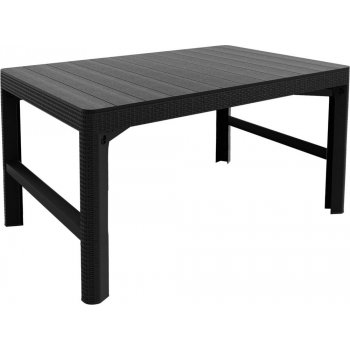 Zahradní plastový stůl LYON 116 x 72 cm - grafit R41490