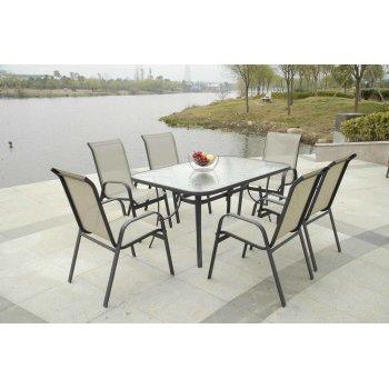 Zahradní stolek se skleněnou deskou R41360