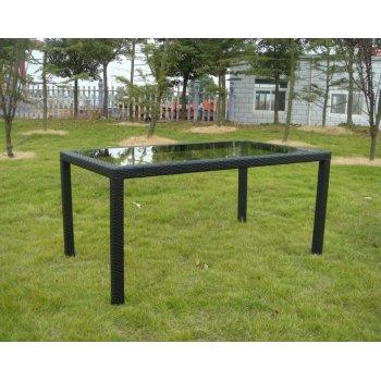 Zahradní stolek RATAN se skleněnou deskou 150x90cm R41186