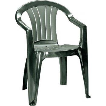 Zahradní plastová židle SICILIA - tmavě zelená R41471