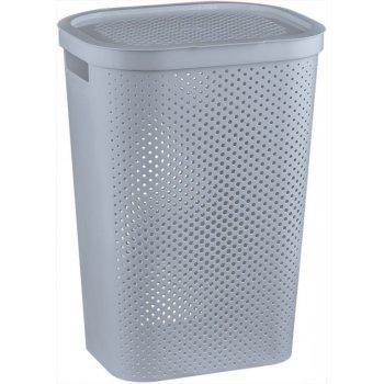KOš na špinavé prádlo s víkem 59L koš na prádlo - šedý CURVER R41085