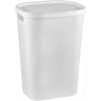 Koš na špinavé prádlo s víkem 59L koš na prádlo - bílý CURVER R41084