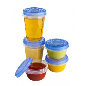 Set potravinových dóz 2x1L set dóz - oranžový CURVER