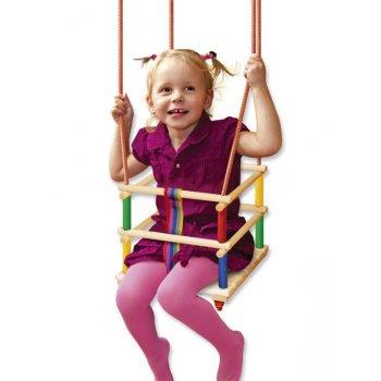 Klasická závěsná dětská houpačka WOOD R41495