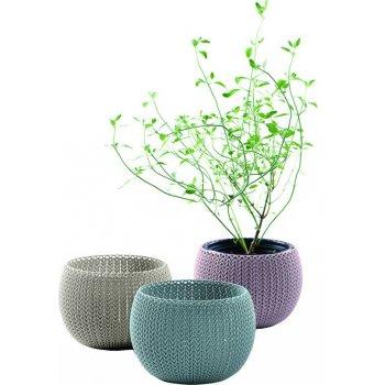 Designový plastový květináš COZIES TRIO mix