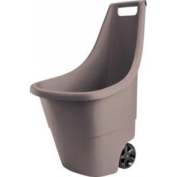 Plastový zahradní vozík EASY GO BREEZE 50L - hnědý R41314