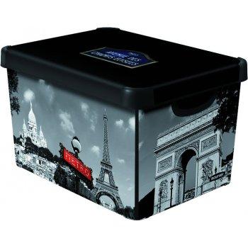 Úložný box s víkem- L - Paříž CURVER