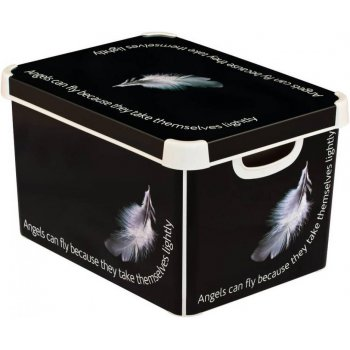 BOX s víkem plastový - L - ANGEL CURVER R41127