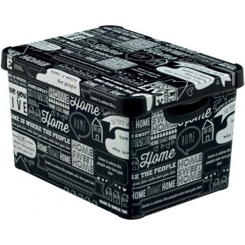 BOX plastový s víkem - L - TYPOGRAPHY CURVER R41126